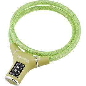 Masterlock 8229 Cykellås 12mm x 900mm grön